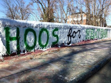 Most commonly circulated photo of the Newtown painting (originator unknown).