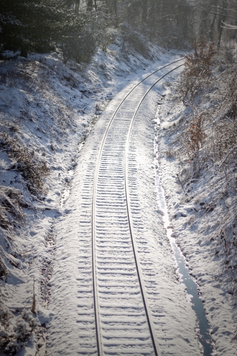 Snowy tracks.