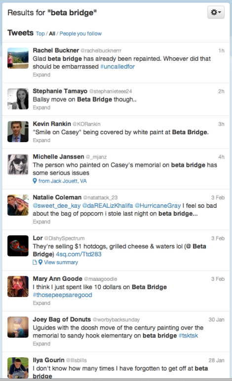 Tweets about bridge goings-on today.