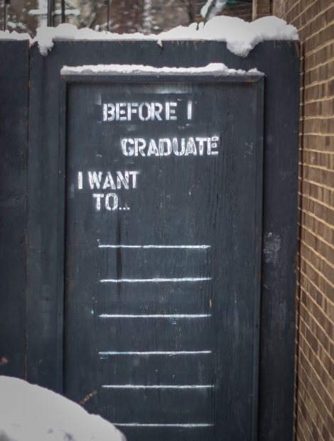 BEFORE I GRADUATE I WANT TO...