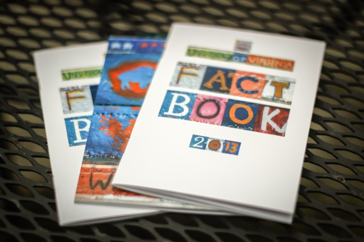 UVA's 2013 Fact Book, done up in a ransom note style using pictures of Beta Bridge from this site.